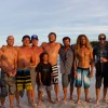 From left to right, Kelly Slater, Shane Dorian, Me,Taylor Knox,Varun Tanjun, Benji Weatherley,Taylor Steele, Rob Machado,Ross Williams, Rizal Tanjun. This was taken on a tiny sand island on Shane Dorian's 40th birthday.